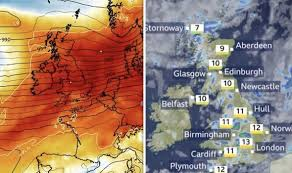 Bbc Weather Forecast Temperatures Rocket As Atlantic Front