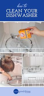 How To Clean The Inside Of A Stainless Steel Dishwasher How To Clean Your Dishwasher In 3 Easy Steps One Good Thing By
