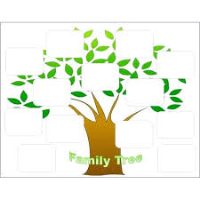 blank printable family tree form chart 4 generations