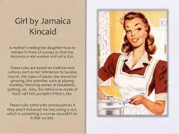example of girl by kincaid essay a literary analysis of the girl by kincaid kibin