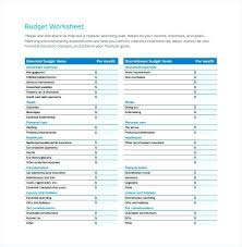 Student Budget Planner 15 College Student Budget Template Proposal Review