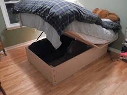 Do it yourself storage bed frame How we built an under the
