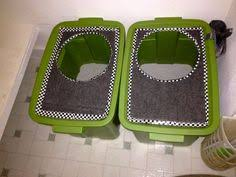 diy top loading cat litter boxes i bought two 18 gallon plastic storage containers cat lovers 27 diy solutions