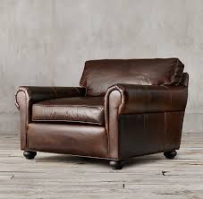 Original Lancaster Leather Chair-and-a-Half