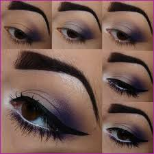 how to do violet pretty eye makeup for brown eyes tutorial