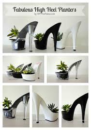 diy high heel planter succulents