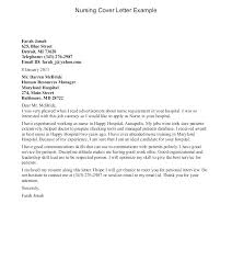 Graduate Cover Letter Examples Nursing Graduate Cover Letter Example