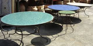 moroccan outdoor furniture. Mosaic Tile Table Moroccan Outdoor Furniture A