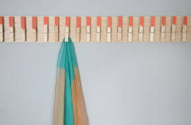 clothespin scarf hanger wall
