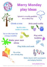 Merry Monday Play Ideas - PlayBoard NI - Leading The Play Agenda