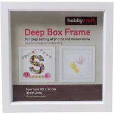 Box Picture Frame White Box Frame 20cm X 20cm