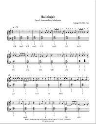 hallelujah piano sheet music hallelujah by jeff buckley piano sheet music intermediate level