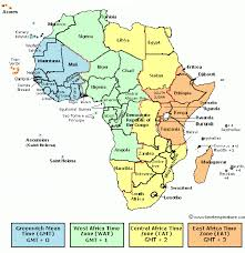 Time Map Africa Time Zone Africa Current Time