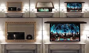 Hide your tv Framed Tvcoverupsmirrortvhidemytvframesframe Mountain Modern Life Tv Cover Ups Frame Tv Mirror Art Solutions Tv Cover Ups