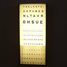 Vintage Eye Chart Light Box A Vintage Opticians Eye Test Chart C1930 In Decorative Items