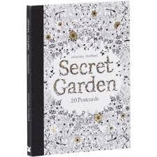picture of secret garden 20 postcards by johanna basford
