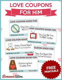 Example Of A Coupon Cool Love Coupons For Him FREE PRINTABLE RomanceWire Romantic Ideas