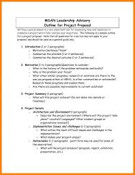 Project Proposal Outline Template Business