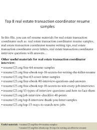 top 8 real estate transaction coordinator resume samples in this file you can ref resume realtor resume example
