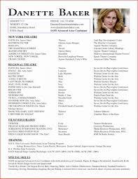Sample Child Actor Resume Inspirational Child Actor Resume Format 21