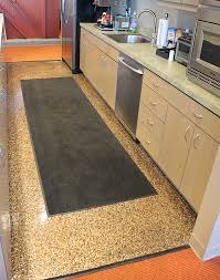 the coated kitchen floor at the corporate headquarters of lamar construction co based in