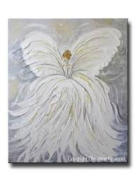 giclee print abstract angel painting white grey gold guardian angel canvas print spiritual wall art christine krainock art contemporary art by christine  on spiritual canvas wall art with giclee print abstract angel painting fine art guardian angel neutral
