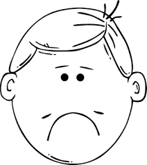 Small Picture Sad Face Coloring Pages