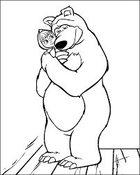 Small Picture Masha and the Bear Coloring Pages