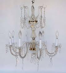 vintage venetian style glass crystal chandelier 8 arm