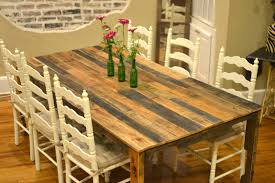 shipping pallet furniture ideas. Harvest-style Dining Table Made From Shipping Pallets. Pallet Furniture Ideas P
