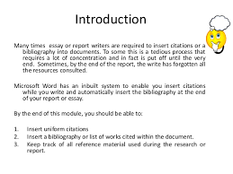 references essay co how to insert references and bibliography into your word document