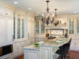 chandelier over kitchen island