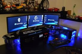 home office gaming computer. Collection In PC Gaming Desk Setup Enchanting Pc Simple Home Office Design Ideas Computer