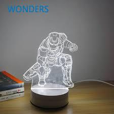 cool mood lighting. New Cool 3D Bulb Skull Baymax Iron Man Darth Vader Spiral Wood Mood LED Table Lamp Lighting