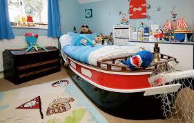 modern sailor themed kids bedroom furniture for boys with unique wooden ship bed frame designs and boys bedroom kids furniture