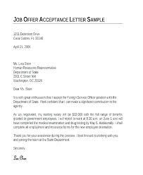 Formal Job Offer Template Employment Acceptance Letter Template