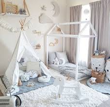 dreamy kids floor bed with tent play