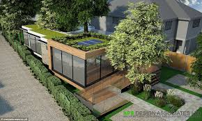 eco friendly home design. architects build eco friendly home around trees to avoid design
