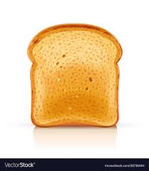 Bread Toast For Sandwich Piece Royalty Free Vector Image