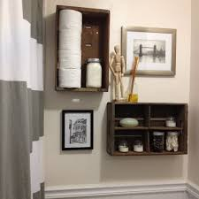 Framed Art Bathroom Bathroom Over The Toilet Storage Ideas Rustic Wooden Shelves