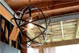 image of rustic light fixtures globe chandelier