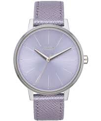 nixon kensington leather quartz watch silver preview
