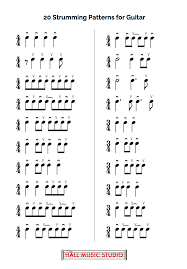 Guitar Strumming Patterns Stunning 48 Strumming Patterns For Guitar The Hall Music Studio Alton