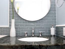 Fresh Glass Tile Backsplash In Bathroom Perfect Ideas - Glass tile bathrooms