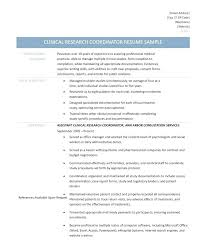 clinical research coordinator resume sample clinical research coordinator template cover letter seminarie
