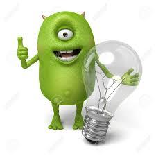 Monster Light Bulb Little Monster And A Light Bulb