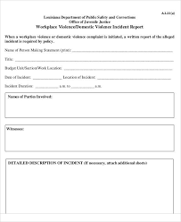 36 Incident Reports In Pdf