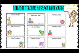 Teacher Message 9 Bitmoji Teacher Message Note Cards