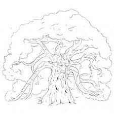 Small Picture An Old Oak Tree Coloring Page An Old Oak Tree Coloring Page