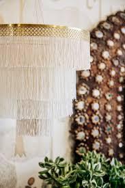 diy boho fringe chandelier diy boho fringe chandelier